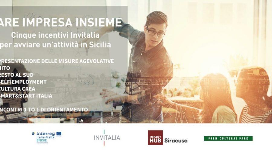 FARE IMPRESA INSIEME: incentivi Invitalia per avviare attività in Sicilia